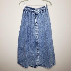 Vintage Calvin Klein Sport Denim Maxi Skirt Size 4